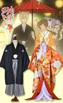 [STOCK]Anime Kamisama Kiss figure Nanami & Tomoe Japanese Wedding Kimono Dress Halloween cosplay costume for woman new 2017
