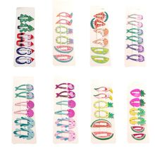 6 Pcs Girls Cartoon Christmas Barrettes Cute Hairpin Clip Kids Children Hair Styling Daily Use Party Supply Gift