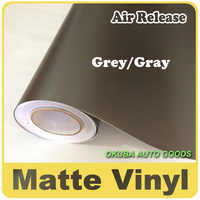 Wholesale 1.52*30m Grey Matte Vinyl Wrap Anthracite With Air Bubble Free Dark Gray Matt Film Vehicle Wrapping