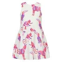 Girls Summer Dress 2018 Brand Baby Girl Party Dresses Children Clothing Animal Pattern Princess Dress Costume