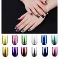 2 g/caja Shinning Espejo Mágico Polvo Del Polvo de Uñas Glitters DIY Nail Art Lentejuelas Decoraciones Herramientas Pigmento de Cromo