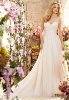 2016 Garden Plus Size Wedding Dresses Custom Made Sexy V Neck Backless A Line Bridal Gowns