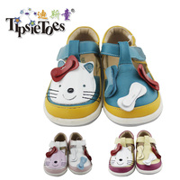 TipsieToes Brand High Quality Genuine Leather Hello Kitty Kids Children Sandals Shoes For Boys And Girls