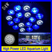 4 stks gratis verzending High Power E27 54 W LED Aquarium lights Koraalrif Grow Light Aquarium Lamp Led-lampen voor hydrocultuur
