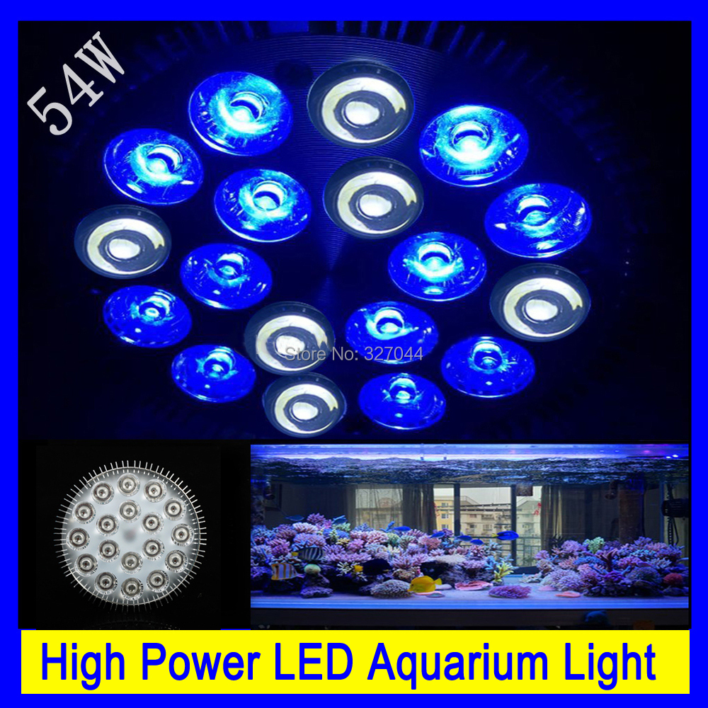 4pcs free shipping High Power E27 54W LED Aquarium lights Coral Reef Grow Light Fish Tank Lamp LED Bulbs for Hydroponics free shipping new 220v ylj 500 500l h 8w submersible water pump aquarium fountain fish tank power saving copper wire