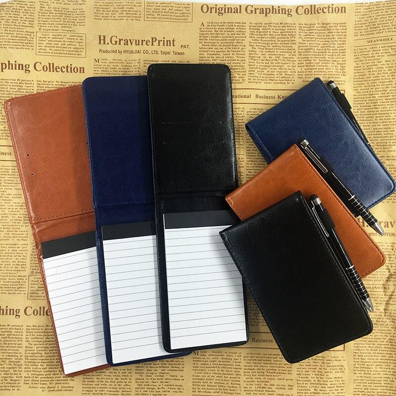Bolso Multifunções RuiZe A7 caderno pequeno livro de nota capa de couro notepad diário planejador de negócios do escritório papelaria suprimentos