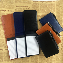 RuiZe Multifunction Pocket notebook A7 small note book notepad leather cover business daily planner office stationery supplies