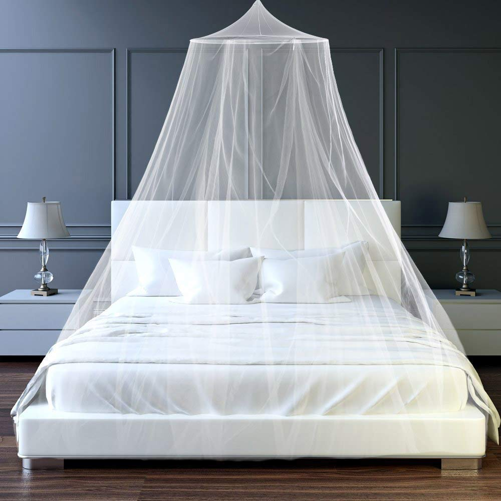 4 Colors Elegant Dome Mosquito Repellent Insect Reject Blue, Pink, White Mosquito Solid Bed None Net Round