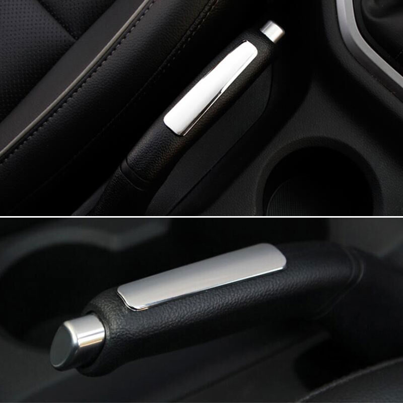 BBQ@FUKA Car Interior Chrome Parking Hand Brake Handle Cover ABS Trim Sequined Decoration Fit For Hyundai ix25 2015 Car-Styling