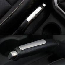 Барбекю @ FUKA салона Chrome парковки ручной тормоз ручка крышки ABS отделка блестками украшения, пригодный для hyundai ix25 2015 автомобиль-Стайлинг