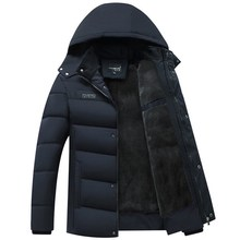2019 Hot Fashion Hooded Winter Coat Men Thick Warm Mens Jacket Fathers Gift Parka Removable cap MY08 XL 2XL 3XL 4XL