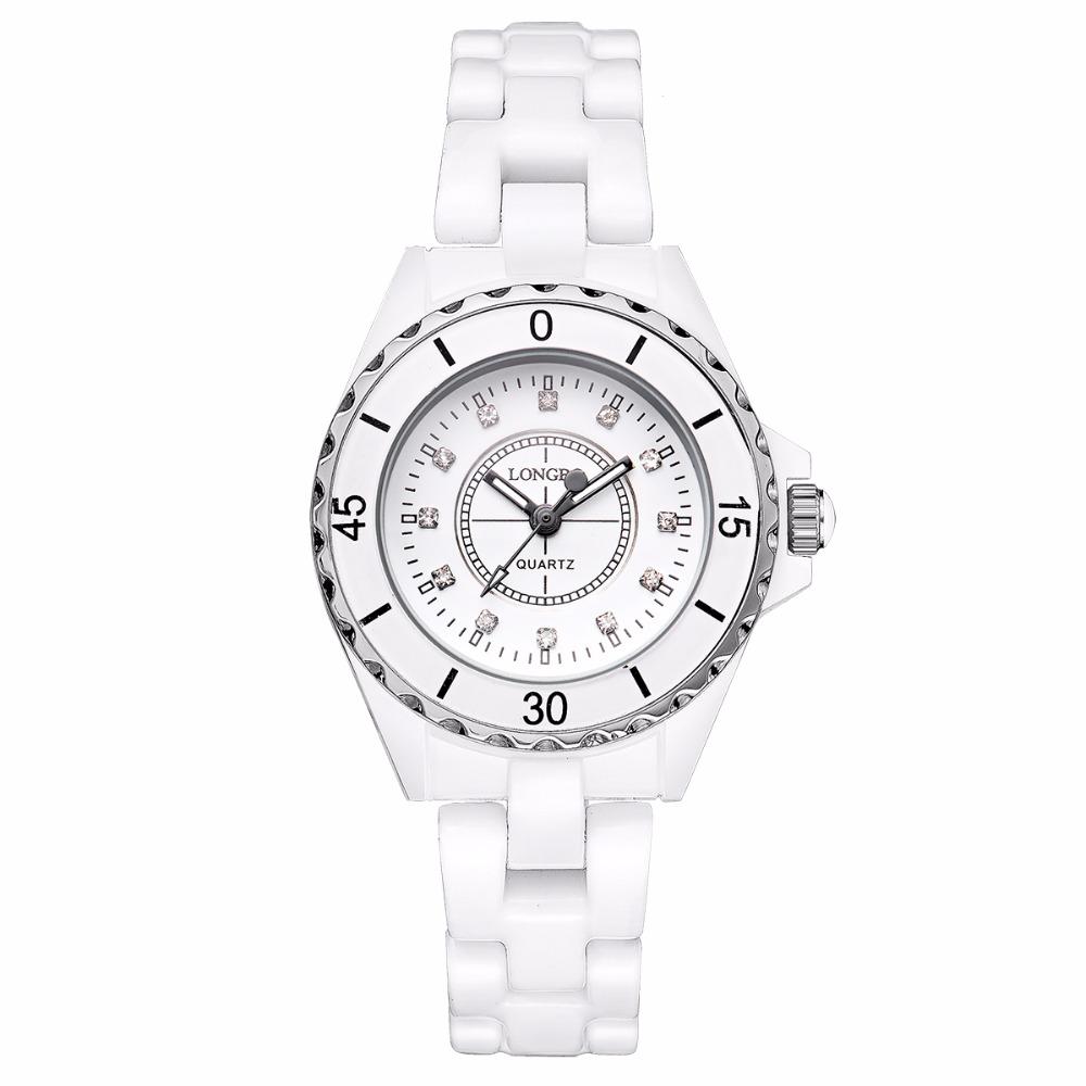 Prix pour 2016 Nouvelle Marque De Luxe LONGBO Femmes En Céramique Montre De Mode Genève Femmes Montres Lady Bracelet À Quartz montres relojes mujer 8628