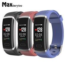 Maxinrytec GT101 Inteligente Pulseira Pulseiras Real-Time Monitor de Freqüência Cardíaca Inteligente Rastreador De Fitness Esportes Tela OLED de Pulso Banda