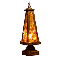 Style features bamboo woven lamp bedroom bedside lamp antique creative desk lamp lighting decoration