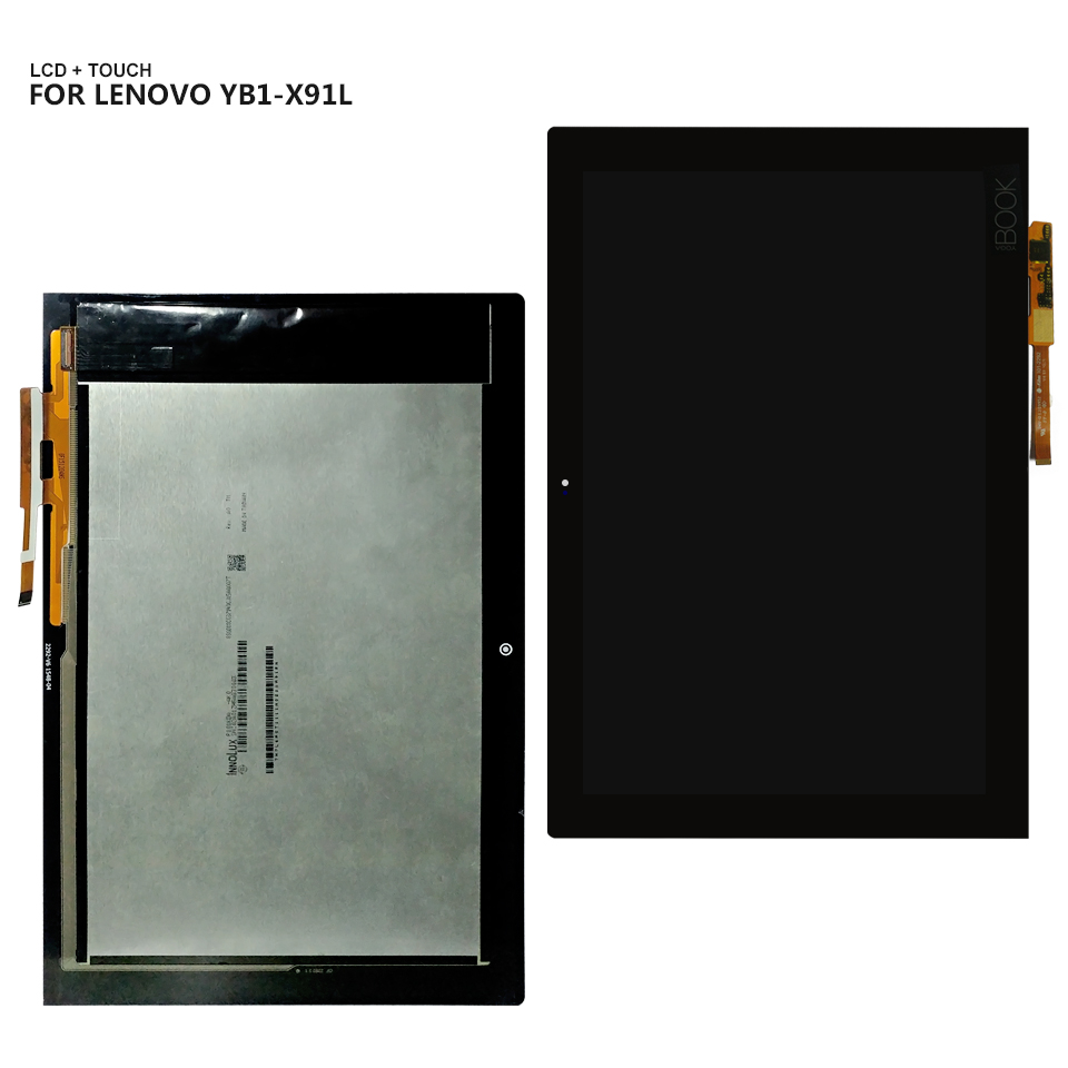 10.1'' For Lenovo Yoga Book YB1-X90L YB1-X90F Display Panel LCD Combo Touch Screen Glass Sensor Replacement Parts for huawei mediapad t1 701 t1 701u display panel lcd combo touch screen glass sensor replacement parts