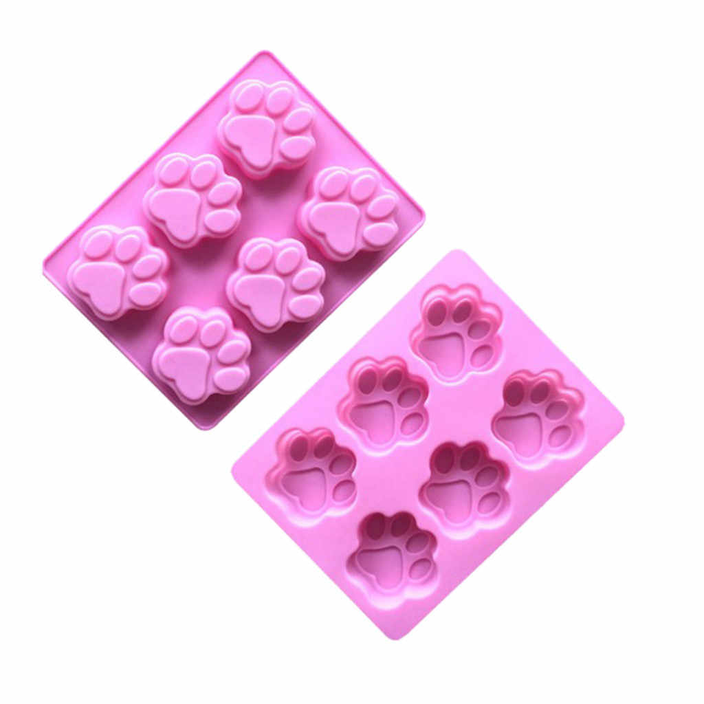 1 Pcs Dog Footprints Cartoon Cake Silicone Mold Ice Pastry Baking Mold Fondant Carft Candy DIY Chocolate Sugarcraft Mould
