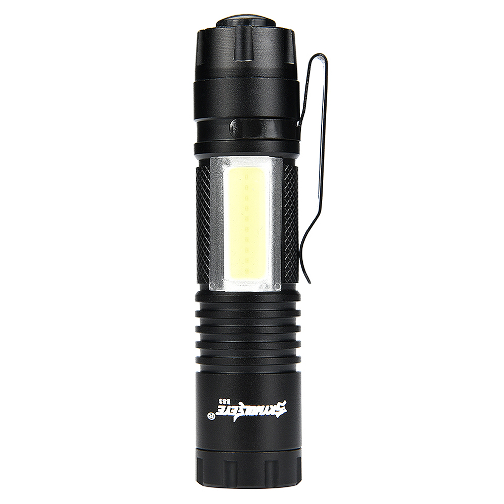SKYWOLFEYE E63 Zoomable Mini 300LM XPE+COB LED Light with 4 Modes Flash Waterproof Torch Lamp