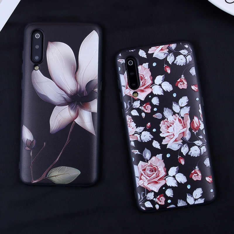 Étui de téléphone pour xiaomi mi 8 Lite 9 étuis couverture florale en Relief pour Xiao mi mi 6X rouge mi Note 7 Note 5 6 Pro 4X 5A rouge mi S2 Capa