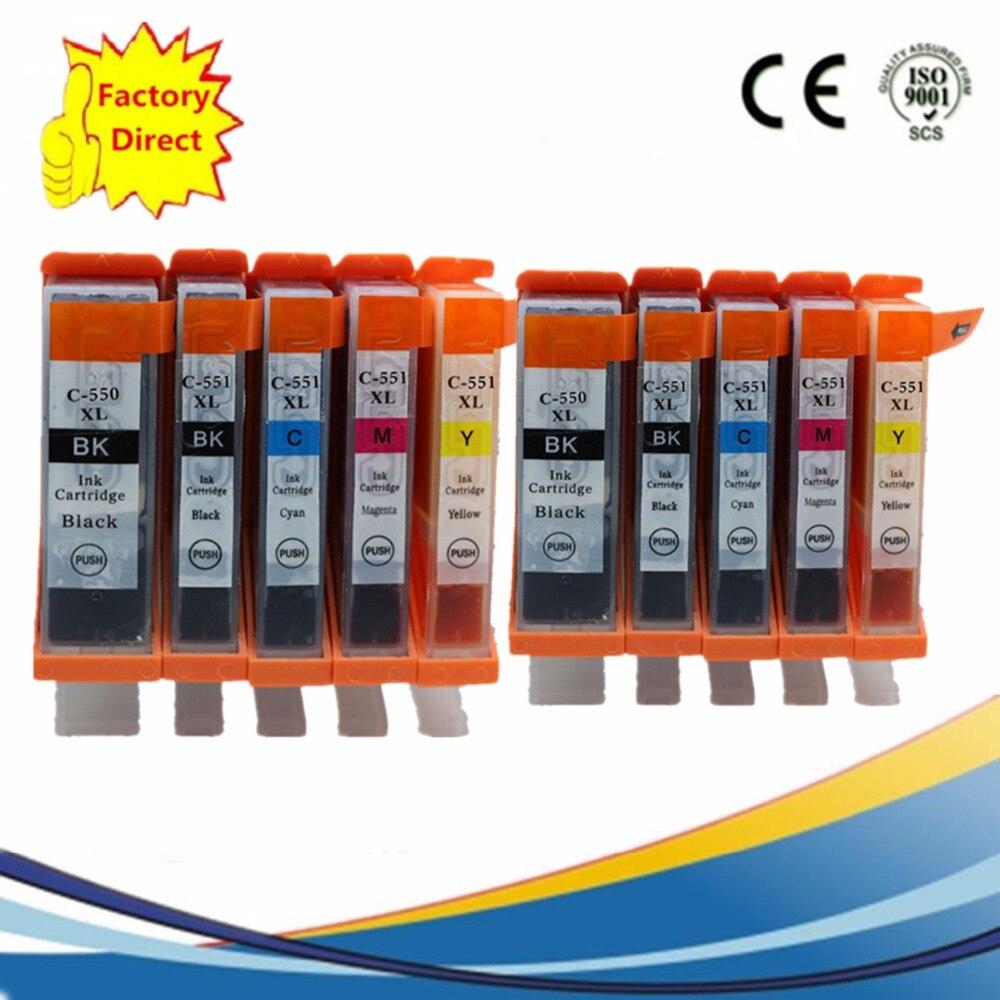 PGI550 PGI-550XL Замена чернильных картриджей для PGI-550 CLI-551 Pixma MX925 MX725 IX6850 IP8750 MG-5450 MG-5550