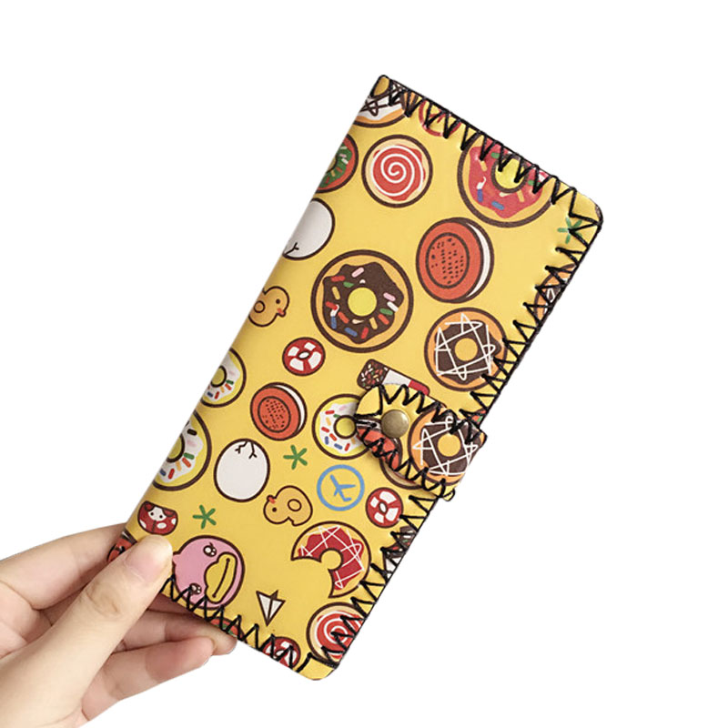 Hot Sale Women Cartoon Clutch Wallets Leather Cute Card Holder Zipper Coin Purse Female Hasp Bifold Long Wallet Handy Bag hot sale owl pattern wallet women zipper coin purse long wallets credit card holder money cash bag ladies purses