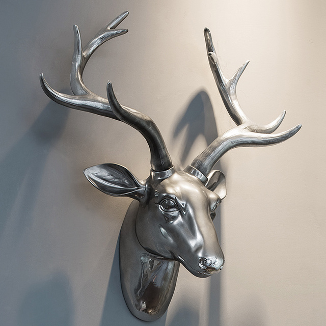 Deer Head Wall Decoration High Grade Electroplated Deer Animal Decorative  Creative Resin Hanging Ornaments Best