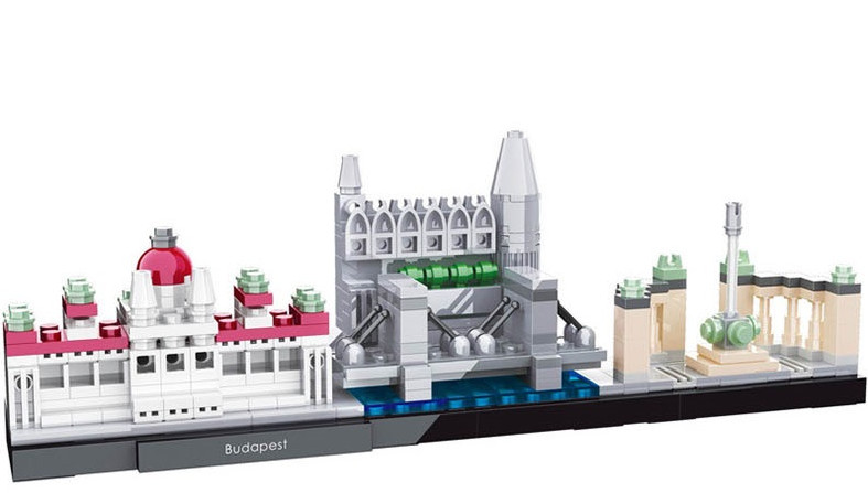 HSANHE Architecture Budapest Skyline Collection Building Blocks Sets City Bricks Classic Model Kids Toys Compatible Legoings DIY loz mini diamond block world famous architecture financial center swfc shangha china city nanoblock model brick educational toys