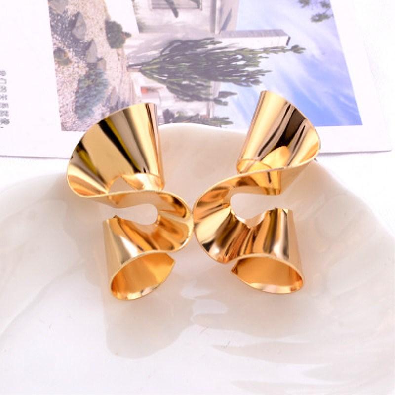 Spiral Geometric Earrings