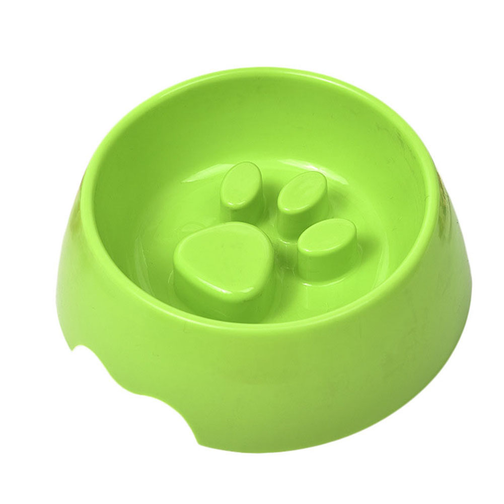 Raised Paw Print Slow Food Or Water Feeding Bowl For Dogs
