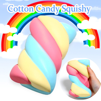 Jumbo Squishy Rainbow Marshmallow Squishy Super Slow Rising Cream Scented Original Package Phone Strap Squeeze Toy
