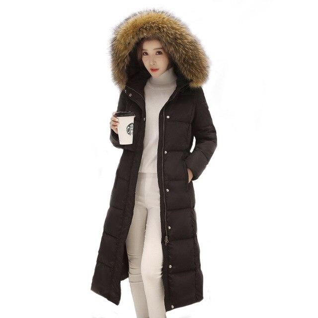 79f672791 New Plus Size Mulheres Jaqueta de Inverno Casaco Quente Super Grosso Preto  2017 Algodão Acolchoado Parka Casacos e