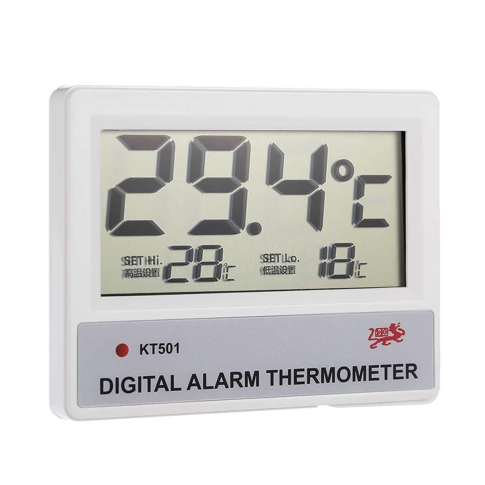 LCD Digital Fish Tank Aquarium Thermometer Water Temperature Meter C/F High/Low Temperature Alarm