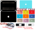 Case For Macbook Air 11 13 Pro 13 15 12 Retina Crystal Hard Cover Protective Shell Laptop Solid Color A1706 A1707 A1708 Bag