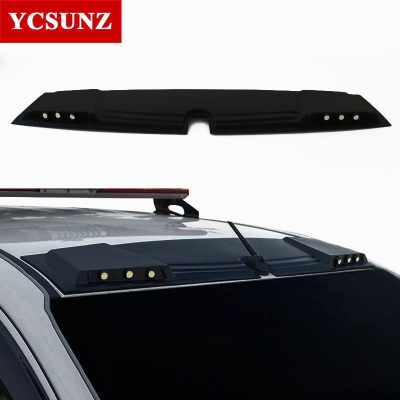 2016-2018 LED Lights Raptor style For Mitsubishi l200 Triton 2017 Front Roof Spoiler For Mitsubshi L200 2018 Accessories Ycsunz for mitsubishi l200 kb