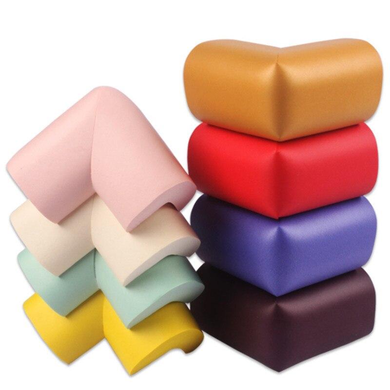 8Pcs/Lot 60*60*12mm Soft Baby Safe Corner Protector Baby Kids Table Desk Corner Guard Children Safety Edge Guards