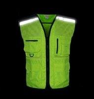 Nova Noite Reflexivo Colete de Segurança/casacos de Equitação esporte da motocicleta aviso Reflexivo coletes reflexivos