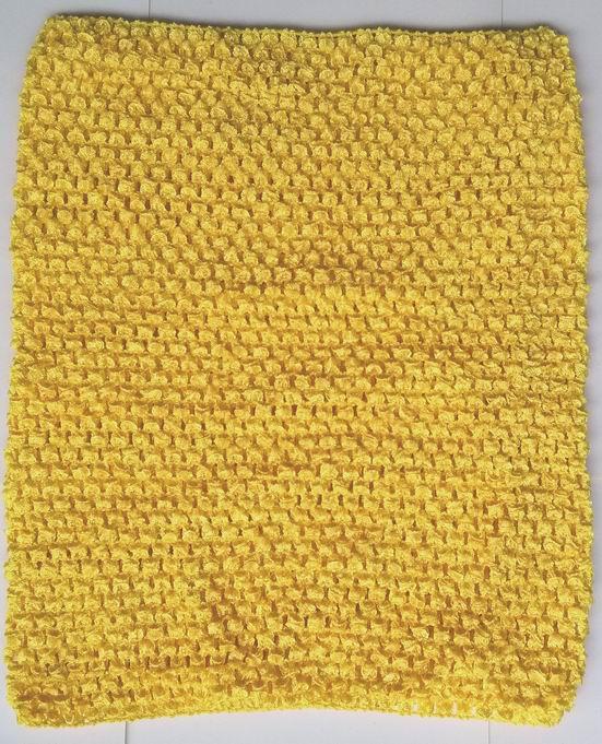 Вязанная крючком юбка-пачка для маленьких девочек, 9 дюймов, топы-трубы, обхват груди, широкая вязаная крючком, топы, юбка-пачка «сделай сам», платье, поставщик - Цвет: Gold yellow tops