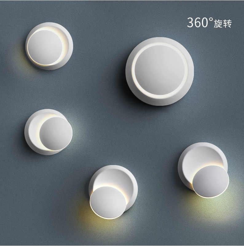 Светодиодный настенный светильник, настенные бра, Скандинавская аппликация, белый, черный, современный светильник для спальни, освещение в помещении, светильник