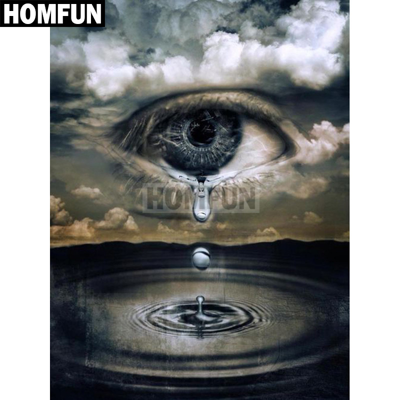 Precise Homfun Full Square/round Drill 5d Diy Diamond Painting eye Tears Embroidery Cross Stitch 5d Home Decor Gift A02350 Rich In Poetic And Pictorial Splendor Diamond Painting Cross Stitch