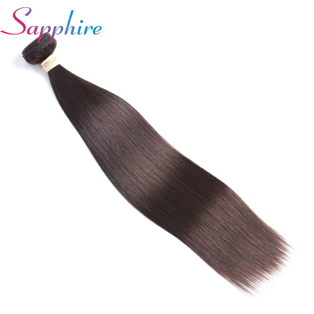Sapphire Brazilian Straight Hair Weave Bundles 8-28 inch 2# Color Human Hair Bundle 100% Remy Hair Extensions Free Shipping