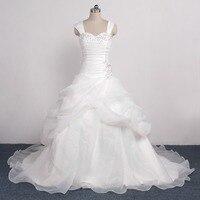 Gothic Beaded Sweetheart Ruffle Organza Beaded Ivory Wedding Dress 2015 Bridal Gowns