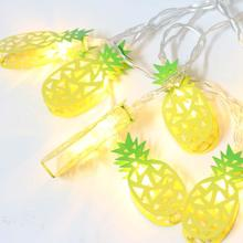 1.5M 10 LED Pineapple String Lights Lamp Fruit Fairy AA Battery Operated Home Wedding Party Bedroom Decoration
