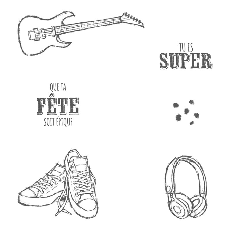 Music Guitar Shoe Transparent Clear Silicone  Stamp Seal  DIY Scrapbooking photo Album Decorative