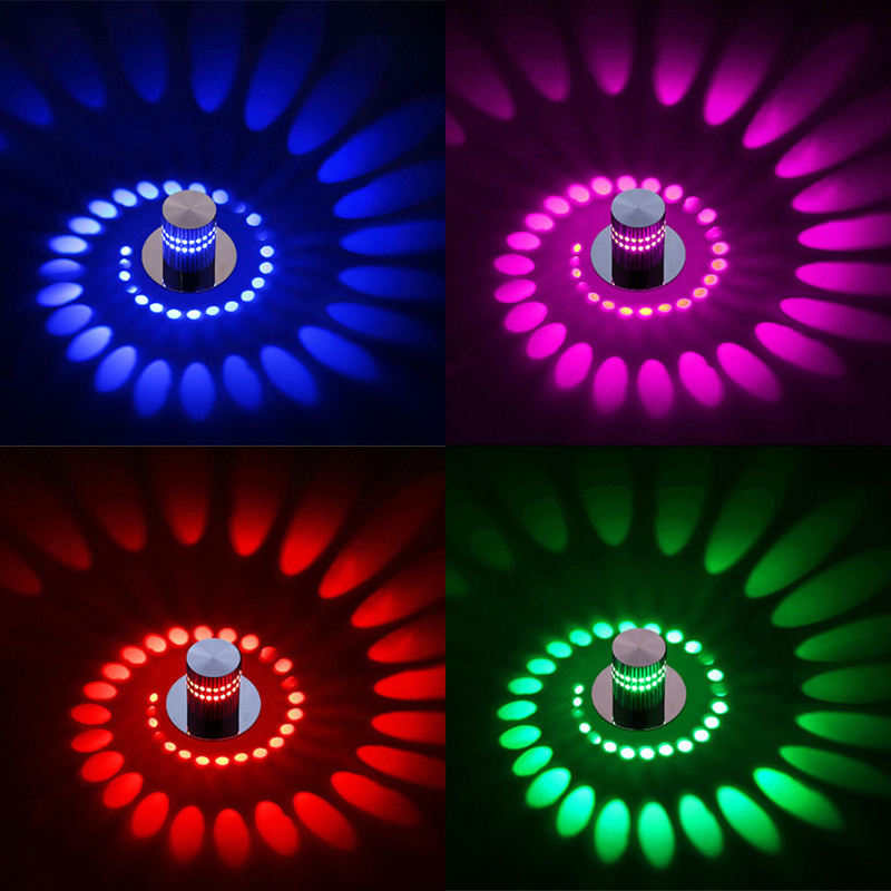 110v 220v 3W Novelty Modern LED Wall Light Ceiling Sconce lamp Indoor Decoration for home Bedroom Wedding Hall Ceiling Lights in LED Indoor Wall Lamps from Lights Lighting
