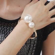UKMOC Romantic Alloy Imitation Pearls Bracelets Fashion Acce