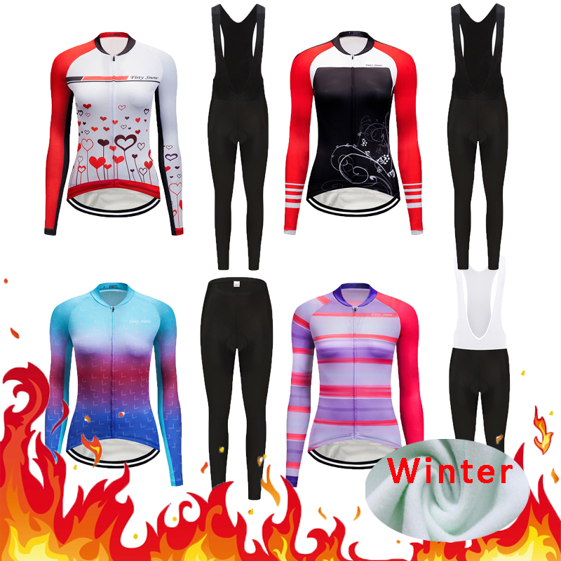 531582f19 Pro Cycling Outfits Wear 2018 Women s Racing Bike Clothing Sets Keep Warm Bicycle  Clothes Uniform Kit Female Riding Jersey Suits