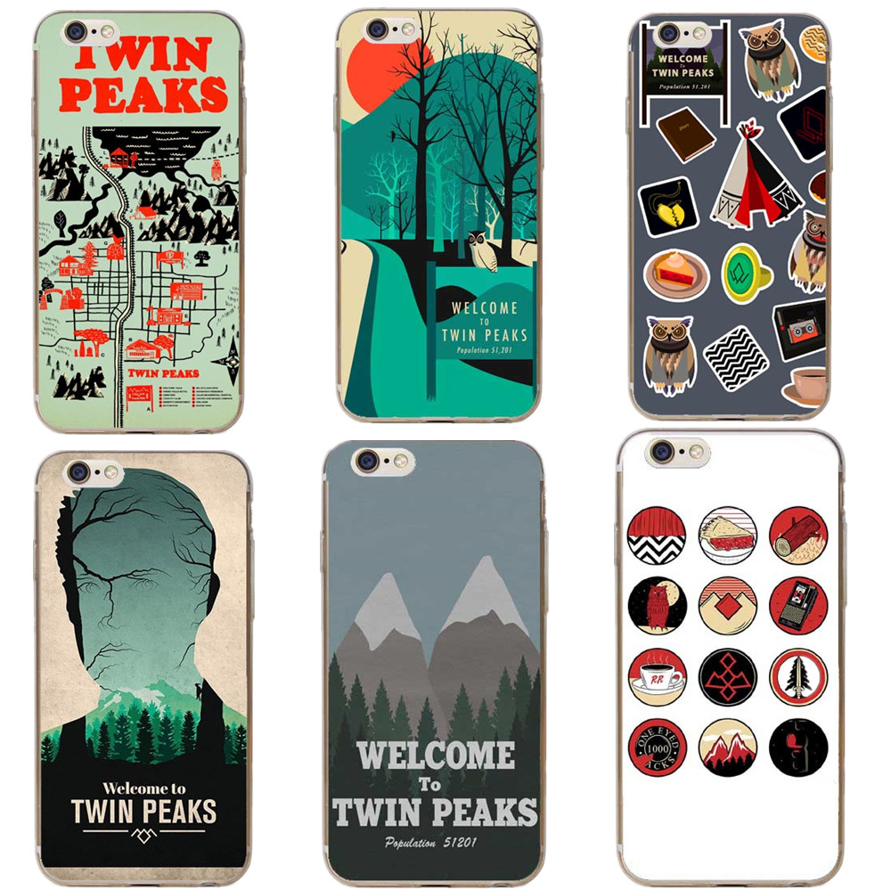 Phone Cases Welcome To Twin Peaks Hard Phone Cover Case for Apple iPhone 5 5S SE 6 6s Plus 7 7Plus Bag Back Cove