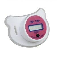 Детская Соска-термометр медицинский силикон соску ЖК-дисплей Цифровой Детский термометр безопасности Здоровья Термометр по уходу для детей