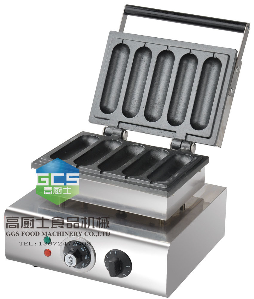 Free shipping COST, 220V Electric lolly waffle maker machine  french hot dog grill  waffle machine