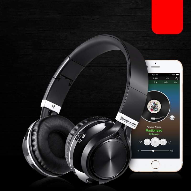 Foldable Handsfree Stereo Wireless Headphones Casque Audio Bluetooth Headset Cordless Earphone for Computer PC Head Phone Set Головная гарнитура