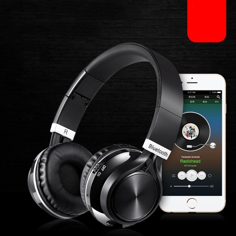 Casque audio sans fil stéréo mains libres pliable mains libres Casque Bluetooth écouteur sans fil pour ordinateur PC Head Phone Set